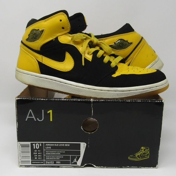 3dfdab261d791b Jordan Other - Air Jordan 1 Yellow Black Size 10.5 Old New Love